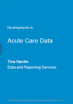 SA Health - Acute Care Data