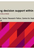 Melissa Baysari - Optimising decision support within eMMS