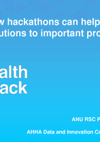 Dr Karmen Condic-Jurkic - HealthHack 2016 – how hackathons can help find innovative solutions to important problems