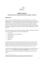 PHN Discussion Paper #2 - Mental Health