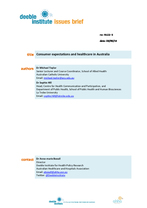 Deeble Issues Brief No. NLCG 3: Consumer expectations and healthcare in Australia