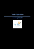 AHHA Budget Submission 2012-13