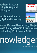 Using BEACH to inform the Illawarra and Southern Practice Research Network by Dr Adam Hodgkins and Dr Stephen