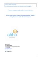 IHPA 2013-14 Pricing Framework