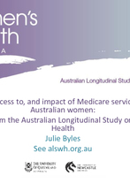 Julie Byles - Australian Longitudinal Study on Women's Health