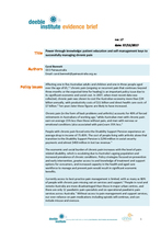 Evidence Brief 17 - Power through knowledge: patient education and self-management keys to successfully managing chronic pain
