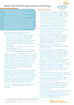 National Health Information Strategy