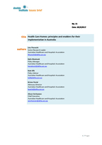 Deeble Issues Brief No. 21: Health Care Homes: principles and enablers for their implementation in Australia