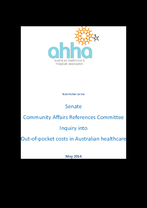 AHHA Submission to the Senate Inquiry into Out-of-pocket medical expenses