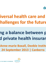 Anne-marie Boxall, Deeble Institute