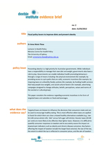 Evidence Brief - Fiscal policy levers for managing obesity