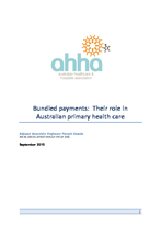 Bundled payments: Their role in Australian primary health care