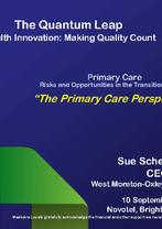 Sue Scheinpflug - Primary Care (transition to PHOs)