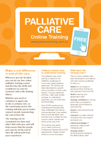 Palliative Care Online Training Flyer