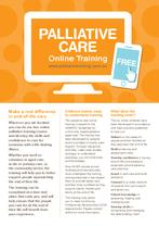 Palliative Care Online Training Flyer