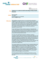 Evidence Brief 14 Consumer Co-Creation in Health Innovating in Primary Health Networks