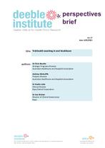 Deeble Perspectives Brief No. 17: Telehealth coaching in oral healthcare