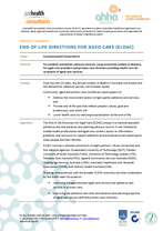End of Life Directions for Aged Care