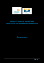 PHN Roadshow report: Primary Health Networks - Opportunities, Challenges and Recommendations