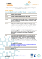 Indigenous Oral Health Report Card for the Australian Medical Association (AMA)