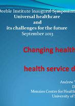 Andrew Wilson, Menzies Centre for Health Policy