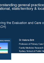 Understanding general practice activity at national, state/territory & local levels by Dr Helena Britt