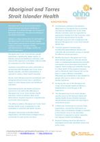 Aboriginal and Torres Strait Islander Health