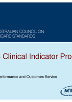 ACHS - Clinical Indicator Program
