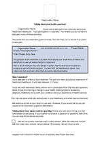 Tool 4: patient stories information sheet and consent form