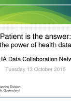 DoH QLD - Patient is the answer - the power of health data