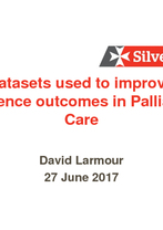 David Larmour - The datasets used to improve and evidence outcomes in Palliative Care