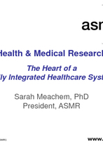 Sarah Meachem - at the heart of an integrated healthcare system Health and Medical Research