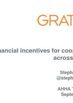 Dr Stephen Duckett - Finanical Incentives of Cooperation Across Sectors
