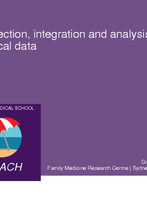 Collection, integration and analysis of patient clinical data by Assoc Prof Graeme Miller