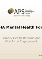 Harry Lovelock - Primary Health Reforms and Workforce Engagement