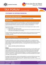 Tax Forum 2011