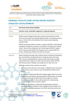 Primary health care after hours strategy - WAPHA