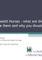 Kim Ryan - Mental Health Nurses: what are they, how to engage them and why you should